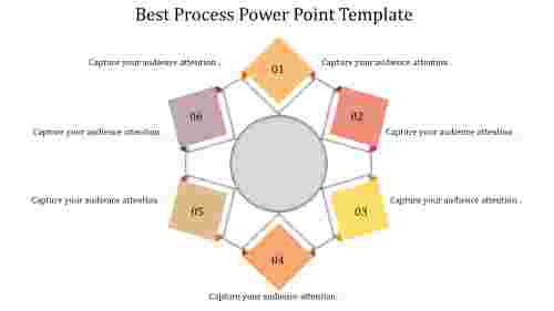 A six noded process power point template